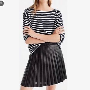 NWT Teen Girl J CREW FAUX LEATHER PLEATED SKIRT